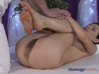 Massage Rooms Petite model with hairy pussy has intense multiple orgasms - Porn Video 561