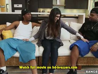 Mia Khalifas First Monster Cock Threesome Part 3