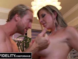PORNFIDELITY - Big Tit MILFs Sara Jay and Kelly Make Ryan Cum Three Times - Porn Video 261