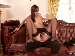 Teen in Hote Lingerie Seduce to Anal Fuck by Boss in.