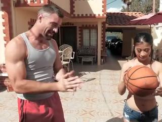 Big Boob Asian Jade Kush Scores a Big Cock for Her Pussy After a Basketball Game