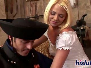 Kinky Simony gets fucked in the barn