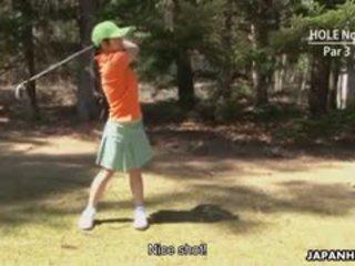 Beautiful Golf Lady Nana Kunimi Make A Mistake And Now She
