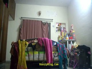 Chubby pakistani aunty dress change caught on hidden cam - DesiBate*