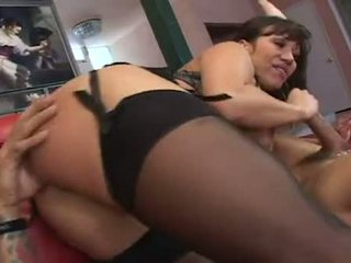 Horny Asian Ava Devine bangs pussy on studs fuck stick after a sloppy blowjob