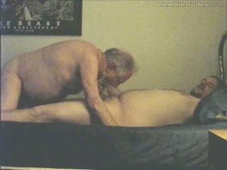 Grandpa has fun with grandson