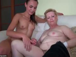 OldNanny Nice Young Woman And Old Mature Masturbated