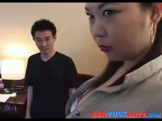 Asian fat domina abuse small guy