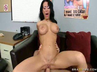 porno, groot, vol tieten