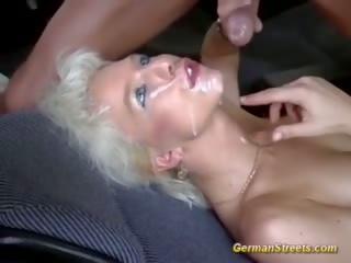 maseczki, publiczny, blondynka