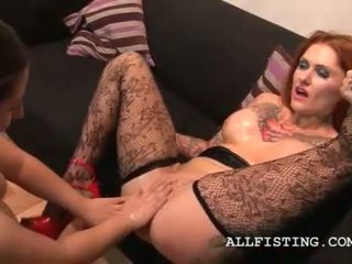 Nasty dyke sluts oil rubbing boobs and pussys