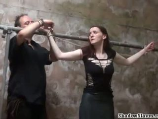 Filthy slaveslut whipping and dirty dungeon tortur