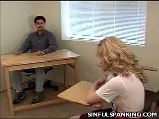 School Girl Ass Spanked