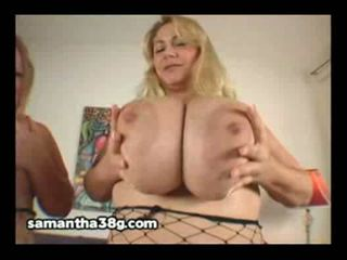 Blonde bbws samantha 38g and sienna hills in fishnet