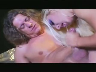 Tattooed pale blonde gets her ass fucked outdoor