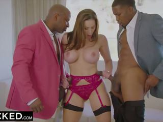 BLACKED Hot Trophy Wife Fucks BBC in Husband's Bed