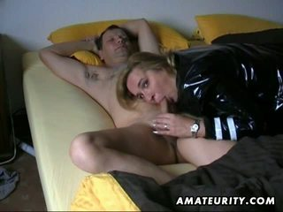 Amateur wife blowjob with sleeping husband