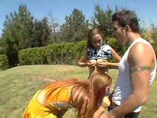 Jamie elle and ashley are some freaky ass cheerleaders