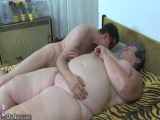 OldNanny Two Ladies is enjoying group sex