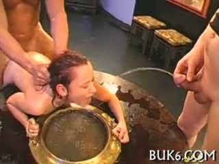 Babes' Faces Filled With Ejaculation