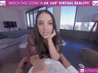 Vrbangers Angela White Takes a Big Dick Between Her Big Boobs