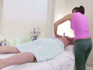 Stranger Seduce Masseuse to Fuck in Massage Parlour.