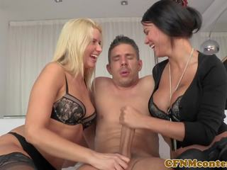 kwaliteit trio video-, lingerie, hd porn scène
