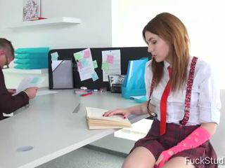 Horny girl ALLEGRA is having a wild time in a professor's office