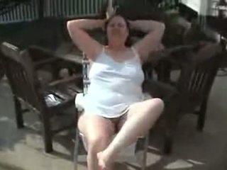 Hairy Bbw Granny Masturbating Outdoor