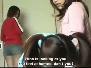japonais, cutie, humiliation, lesbienne