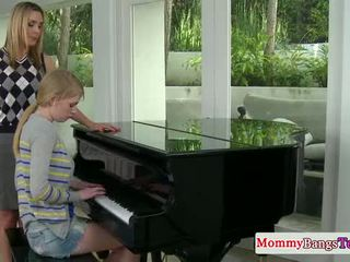 Musical mommy swapping cum with stepteen