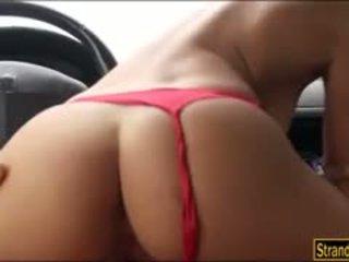 anumang brunette sariwa, big boobs pa, Libre blowjob