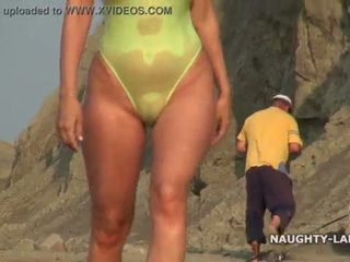 hottest beach, fun flashing channel, online public film