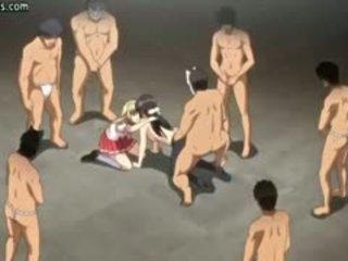 Anime Cutie Gets Holes Slammed Hard