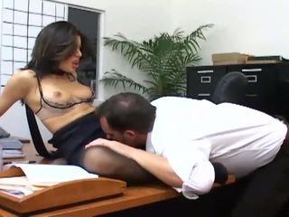 vol kantoor, nominale office sex kanaal, zien secretaresse scène