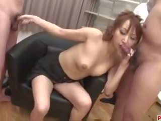 Anna Mizukawa Pumped and Made to Swallow Fresh Jizz.
