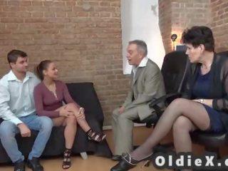 great group sex scene, old fuck, nice gilf