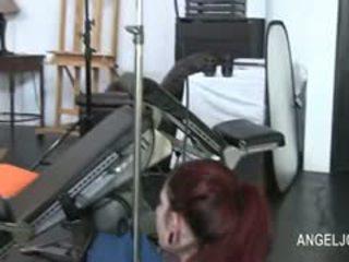 buah dada besar terhangat, webcam semak, perang rambutnya menonton