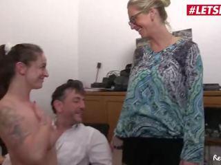 Letsdoeit - German Wife Joins Secretary Into Fucking Her Boss
