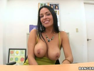 Busty MILF babe gets pounded at the office