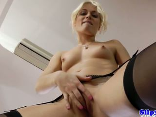 Highheeled Eurobabe Fucks and Suck Old Geezer: Free Porn 30