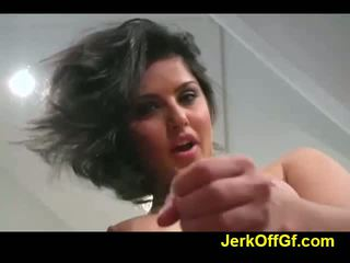 Jerkoff Instruction With Sunny Leon