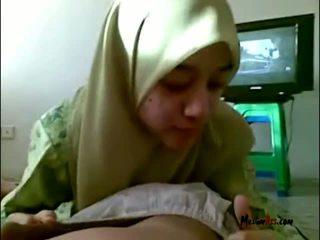 Hijab 青少年 吸吮 球