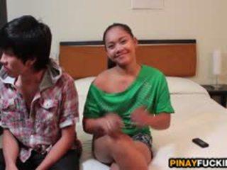 Filipina ahateur sophia blows en gets pumped