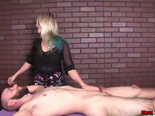 Sexy Blonde Babe Jerks off the Tied Man, Porn 5f
