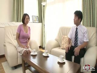 Величезний титьки японська wifey anna gets трахкав і creampied
