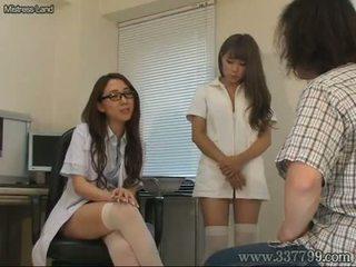 اليابانية, cfnm, ممرضة