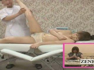Subtitle enf cmnf jaapan koolitüdruk sensuaalne pepu massaaž