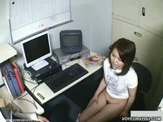 Office ladies store owner blowjob