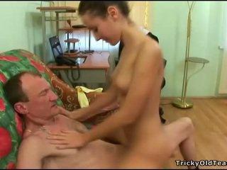Eski öğretmen gets deli loving eylem